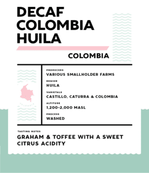 Springbok Coffee Decaf Columbia Huila